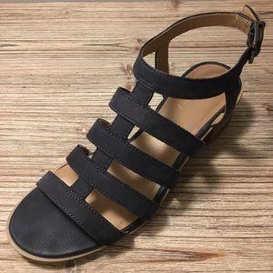 Franco Sarto sz 7 block heel navy sandals
